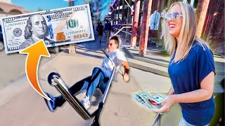 Offering People $100 To Land SCOOTER TRICKS (Kicked Out) W/ Ryan Williams!