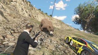 GTA 5 Phượt #14 - Cùng Messi lên núi bắt Gấu (gặp ma nữ ~~!)