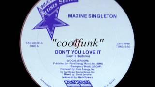 "Maxine Singleton - Don't You Love It (12"" Disco-Funk 1982)"