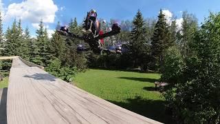 Backyard FPV Freestyle, Ending in a Crash...?