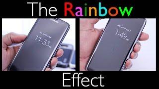 "The ""Rainbow Effect"" - AMAZING Thing *Clear* Fullscreen Protector: Part II - Samsung Galaxy S7 Edge"