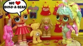 Bon Bon Unicorn & Cheer Shop at BUILD A BEAR Workshop ~ LOL Surprise Doll & real BAB clothes try on.
