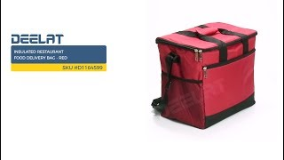 Insulated Restaurant Food Delivery Bag - Red     SKU #D1164599