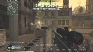 Cod 4/Mw2 sniper montage - Anthrax Island
