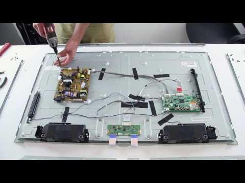LED Strip Replacement Tutorial - LG 42LN TV - How to Replace the LED Strips No Backlights
