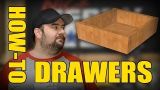 Ⓕ How To MAKE Drawers for Cabinets & Furniture (ep61)