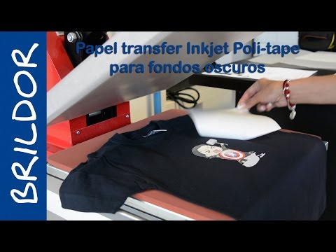 Cómo aplicar papel transfer inkjet para fondos oscuros