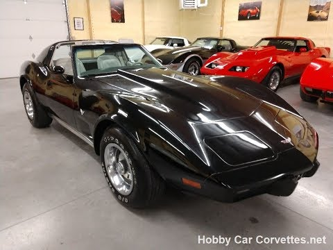 1977 Black Corvette TTop Smoke Gray Int Video