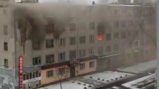 При пожаре в общежитии Павлограда пострадали три человека, в том числе и ребенок. ВИДЕО