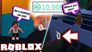 Betting 10 000 Robux Hide Seek Roblox Jailbreak