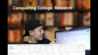 Conquering College: Researching Colleges (tips, techniques, advice)