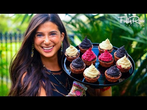 Chocolate Peanut-Butter Filled Cupcakes for Halloween! FullyRaw & Vegan