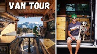 PCT Hiker Builds Majestic Aspen Cabin on Wheels - Van Life Tour