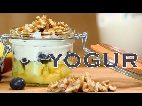 Postre de yogur | Receta exprés