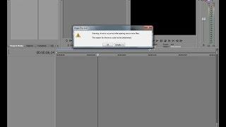 Как исправить ошибку в Vegas Pro  если не вставляются видео?