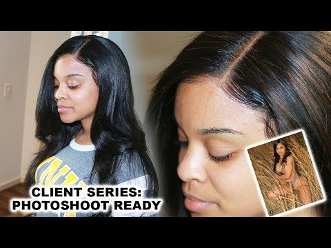 CLIENT SERIES:  PhotoShoot Ready using SIDE PART LACE Front WIG INSTALL  | Wow African
