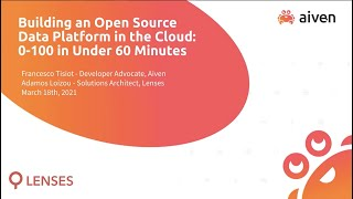 Building a Cloud Data Platform 0 to 100 in Under 60 Minutes
