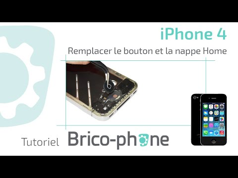 comment demonter le bouton home iphone 4