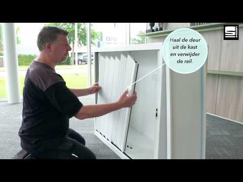 SWAN Roldeurkast vervangen van deuren en rails