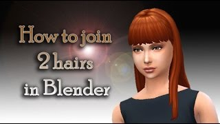 How to join 2 hairs in Blender