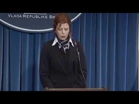 Snimak proglašenja vanrednog stanja nakon atentata na Predsednika Vlade Republike Srbije Zorana Đinđića