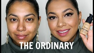 THE ORDINARY COVERAGE FOUNDATION REVIEW & DEMO | MissBeautyAdikt