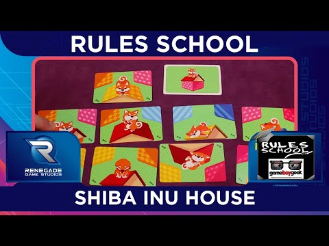 Learn How To Setup & Play Shiba Inu House (Rules School) with the Game Boy Geek