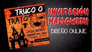 DISEÑO RÁPIDO DE INVITACIÓN PARA HALLOWEEN
