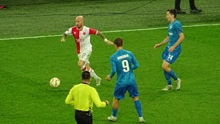 Zenit 1:0 Slavia Praha / Зенит 1:0 Славия Прага с трибуны Санкт-Петербург Арены