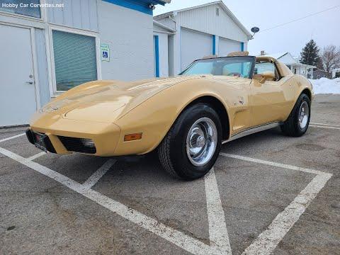1977 Tan Corvette L82 For Sale Video