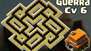 Layout Cv6 Guerra   Anti - Gigante   Anti Balão [Th 6 - War Base] - CoC