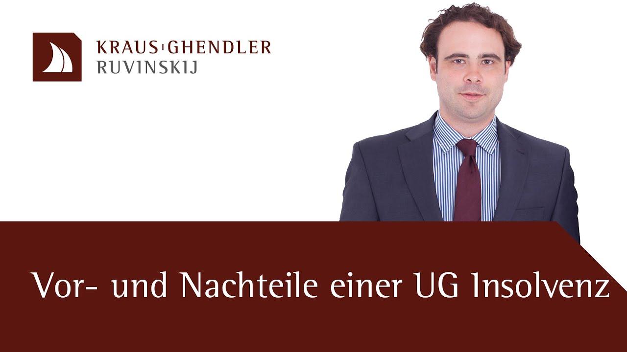 Vorteile und Nachteile einer UG-Insolvenz