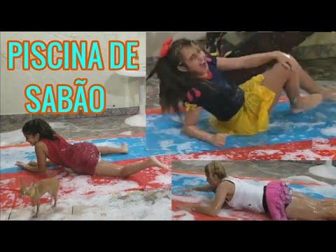 PISCINA DE SABÃO DESAFIO DAS AMIGAS COM ESPUMA