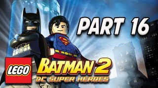 LEGO Batman 2 DC Super Heroes Walkthrough - Part 16 Lex&Joker Batcave Battle Let's Play