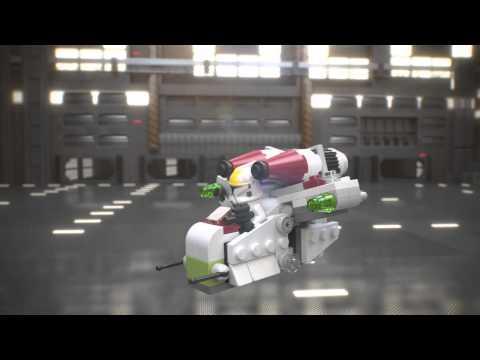 Vidéo LEGO Star Wars 75076 : L'hélicoptère de combat de la République