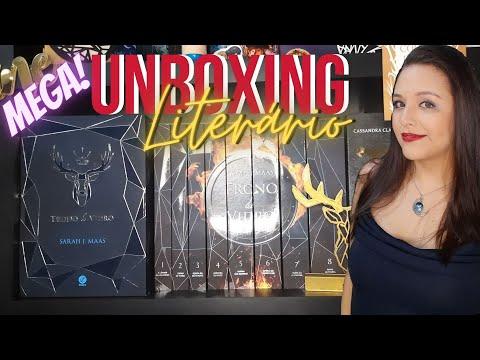 MEGA UNBOXING DE TRONO DE VIDRO (Box + Brindes + Marcadores) || Sarah J. Maas