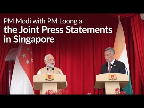 PM Modi and PM Loong at the Signing & Exchange of MOUs, & Joint Press Statements in Singapore