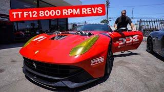 REVVING MY TWIN TURBO F12 FERRARI 8000 RPM!  *Feat: GINTANI*