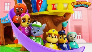 Weeble Toy Treehouse featuring Paw Patrol Weebles!
