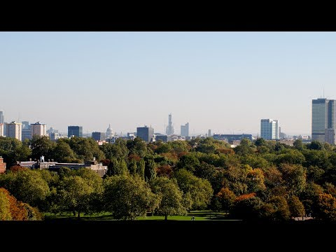 Celestron Skymaster 25×70 binoculars magnification long distance test HD, on Primrose Hill, London