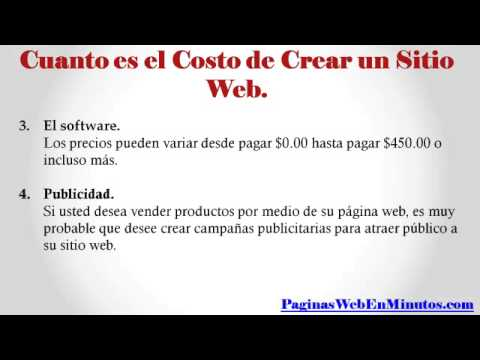 ¿Cuanto Cuesta Crear Una Pagina Web? (Recomendaciones).