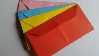 How to make an origami  envelope . Как сделать конверт