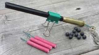Make an Easy Firecracker Cannon | Old Bullet Cartridge $2