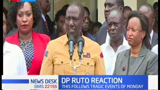 DP Ruto reacts to school tragedy