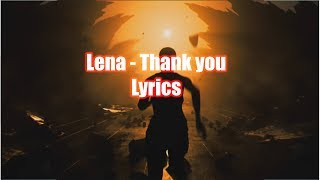 Lena   Thank You || LYRICS
