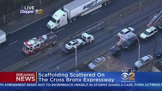 Scaffolding Scattered On The Cross Bronx Expressway