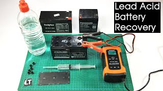 Sealed Lead Acid Battery Recovery / How to refill lead acid battery