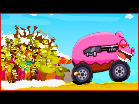 Машиной Давим Зомби В игре  zombie road trip #2 от Фаника Тачки VS Зомби