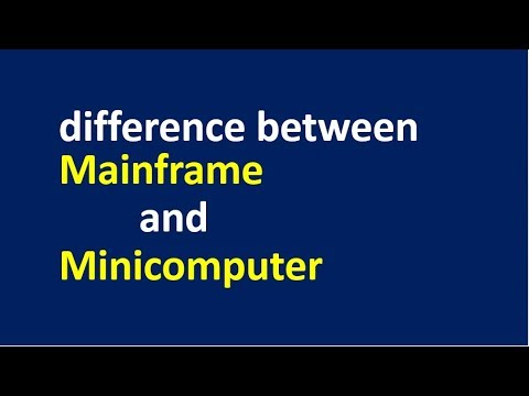 difference between Mainframe and Minicomputer