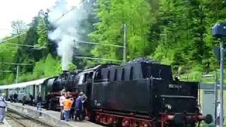 preview picture of video 'Dampflok 50 2740 der Albtalbahn in Herrenalb'